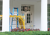 The White House West Wing in Washington, DC is undergoing renovations while United States President Donald J. Trump is vacationing in Bedminster, New Jersey on Friday, August 11, 2017.<br /> Credit: Ron Sachs / CNP /MediaPunch
