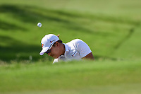 Kyoung-Hoon Lee (KOR) chips on to 2 during round 3 of the 2019 Charles Schwab Challenge, Colonial Country Club, Ft. Worth, Texas,  USA. 5/25/2019.<br /> Picture: Golffile | Ken Murray<br /> <br /> All photo usage must carry mandatory copyright credit (© Golffile | Ken Murray)