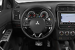 Car pictures of steering wheel view of a 2020 Mitsubishi ASX Intense 5 Door SUV