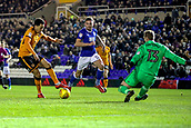 4th December 2017, St. Andrews Stadium, Birmingham, England; EFL Championship football, Birmingham City versus Wolverhampton Wanderers; Hélder Costa of Wolverhampton Wanderers moves the ball right to try and go past the keeper