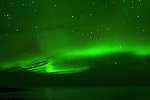 HUDSON BAY AND THE NORTHERN LIGHTS,  'Aurora borealis' CHURCHILL, MANITOBA, CANADA