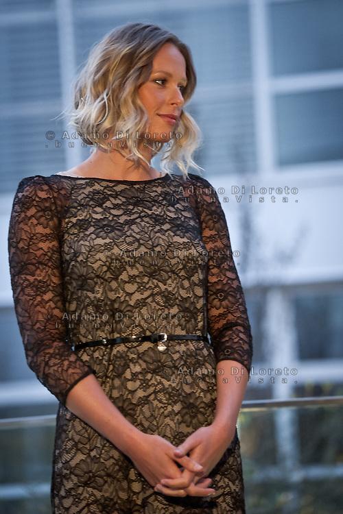 Federica Pellegrini in dress evening for his presentation at P&G how testimonial, on March 05, 2014. Photo: Adamo Di Loreto/BuenaVista*photo