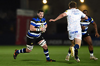 James Phillips of Bath Rugby in possession. Aviva Premiership match, between Worcester Warriors and Bath Rugby on January 5, 2018 at Sixways Stadium in Worcester, England. Photo by: Patrick Khachfe / Onside Images