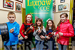 Lixnaw CCE Feile Feabhra: Taking part in the Lixnaw Feile Feabhra at the Cheolan Centre, Lixnaw on Sunday last were Eoghan Galvin, Grace,Mary & Sarah Walsh & Emma Rose Galvin.