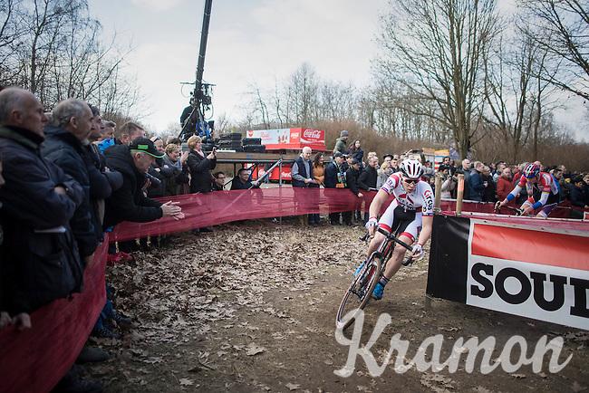 Laurens Sweeck (BEL/Era-Circus)<br /> <br /> men's race<br /> CX Soudal Classics Leuven/Belgium 2017