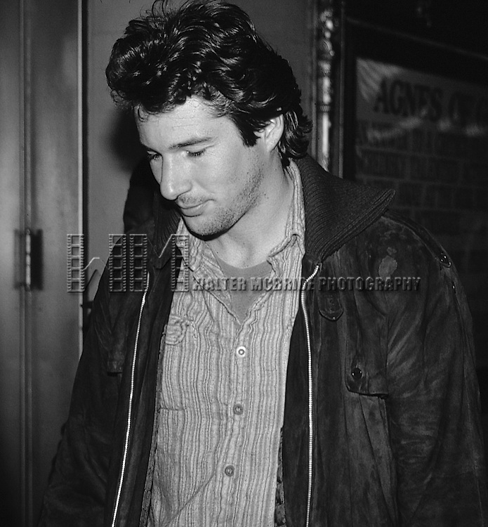 Richard Gere attending a performance of 'Agnes Of God' at the Music Box Theatre in New York City.<br /> April 1982