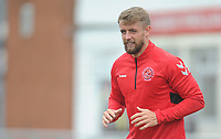 Fleetwood Town's Jack Sowerby during the pre-match warm-up <br /> <br /> Photographer Kevin Barnes/CameraSport<br /> <br /> The EFL Sky Bet Championship - Fleetwood Town v AFC Wimbledon - Saturday 10th August 2019 - Highbury Stadium - Fleetwood<br /> <br /> World Copyright © 2019 CameraSport. All rights reserved. 43 Linden Ave. Countesthorpe. Leicester. England. LE8 5PG - Tel: +44 (0) 116 277 4147 - admin@camerasport.com - www.camerasport.com