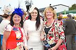 Enjoying Ladies Day at the Listowel Races on Friday were: Ann Lannigan, Ballylongford, Naofa Finnucane, Ballylongford, Betty Brosnan