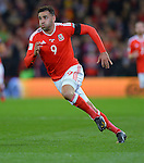 Hal Robson Kanu of Wales during the FIFA World Cup Qualifying match at the Cardiff City Stadium, Cardiff. Picture date: November 12th, 2016. Pic Robin Parker/Sportimage