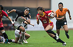 Action during the HSBC Asian Rugby Sevens Series 2012 at the Yuanshen stadium on September 22, 2012 in Shanghai, China. Photo by Victor Fraile / The Power of Sport Images