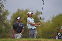 Kevin Kisner (USA) watches his tee shot on 12 during day 5 of the World Golf Championships, Dell Match Play, Austin Country Club, Austin, Texas. 3/25/2018.<br /> Picture: Golffile | Ken Murray<br /> <br /> <br /> All photo usage must carry mandatory copyright credit (© Golffile | Ken Murray)