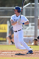 South Dakota State JackRabbits infielder Zach Holt (25) at bat during a game against the Maine Black Bears at South County Regional Park on March 9, 2014 in Port Charlotte, Florida.  Maine defeated South Dakota 5-4.  (Mike Janes/Four Seam Images)