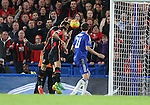 Bournemouth's Glenn Murray scoring his sides opening goal<br /> <br /> Barclays Premier League - Chelsea v AFC Bournemouth - Stamford Bridge - England - 5th December 2015 - Picture David Klein/Sportimage
