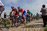 Ramon SINKELDAM from the Netherlands of FDJ at the 4 star cobblestone sector 17 from Hornaing to Wandignies during the 2018 Paris-Roubaix race, France, 8 April 2018, Photo by Thomas van Bracht / PelotonPhotos.com | All photos usage must carry mandatory copyright credit (Peloton Photos | Thomas van Bracht)