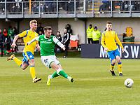 9th February 2020; Indodrill Stadium Alloa, Alloa Clackmannashire, Scotland; Scottish Cup Football, BSC Glasgow versus Hibernian; Marc McNulty of Hibernian scores his and Hibs third goal for his hat trick