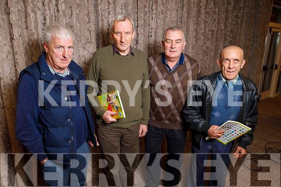 Michael O'Sullivan (Tuoist), Michael Carey (Kenmare), Paddy O'Sullivan (Currow) and Moss O'Connor (Currow) attending the Kerry GAA County Convention in the Rose Hotel on Tuesday night.