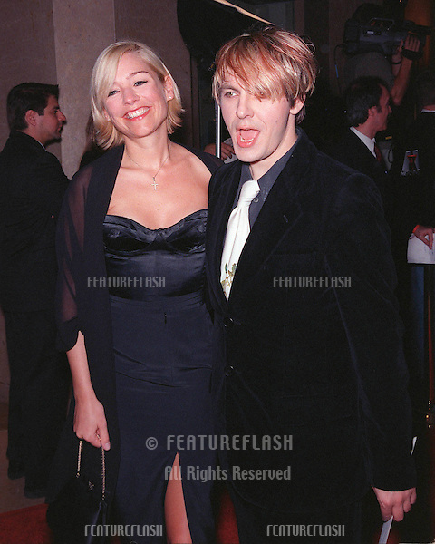04MAR99:  Duran Duran singer NICK RHODES & girlfriend MADELEINE at charity event in Beverly Hills to benefit the St. Jude's Children's Research Hospital..© Paul Smith / Featureflash