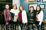 At the Tralee Rugby Club  Fundraising Cookery Demo by Mark Doe at the Ashe Hotel on Friday were Geraldine O Shea,  Mary-Anne Piggott,  Lorraine O'Connor, Noreen O'Shea and Rachel Hillard