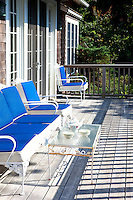 blue balcony couch