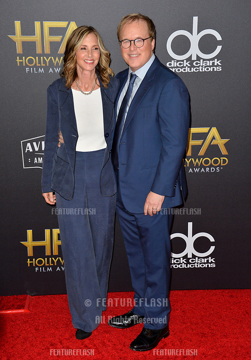 LOS ANGELES, CA. November 04, 2018: Brad Bird &amp; Elizabeth Canney at the 22nd Annual Hollywood Film Awards at the Beverly Hilton Hotel.<br /> Picture: Paul Smith/Featureflash