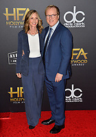 LOS ANGELES, CA. November 04, 2018: Brad Bird & Elizabeth Canney at the 22nd Annual Hollywood Film Awards at the Beverly Hilton Hotel.<br /> Picture: Paul Smith/Featureflash