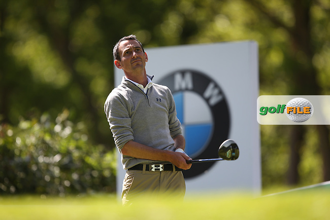 Jason LEVERMORE (ENG) drives from the 17th during Round One of the 2015 BMW PGA Championship over the West Course at Wentworth, Virginia Water, London. 21/05/2015Picture David Lloyd, www.golffile.ie.