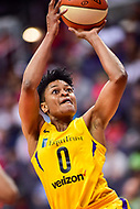 Washington, DC - June 15, 2018: Los Angeles Sparks guard Alana Beard (0) goes up for a basket during game between the Washington Mystics and Los Angeles Sparks at the Capital One Arena in Washington, DC. (Photo by Phil Peters/Media Images International)