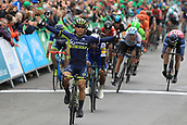 8th September 2017, Newmarket, England; OVO Energy Tour of Britain Cycling; Stage 6, Newmarket to Aldeburgh; Caleb EWAN (AUS) celebrates as he wins stage 6