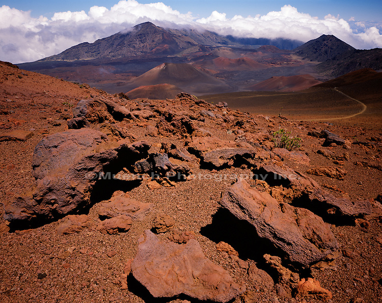 """Volcanic bombs, Maui Haleakala National Park, HAWAII"""