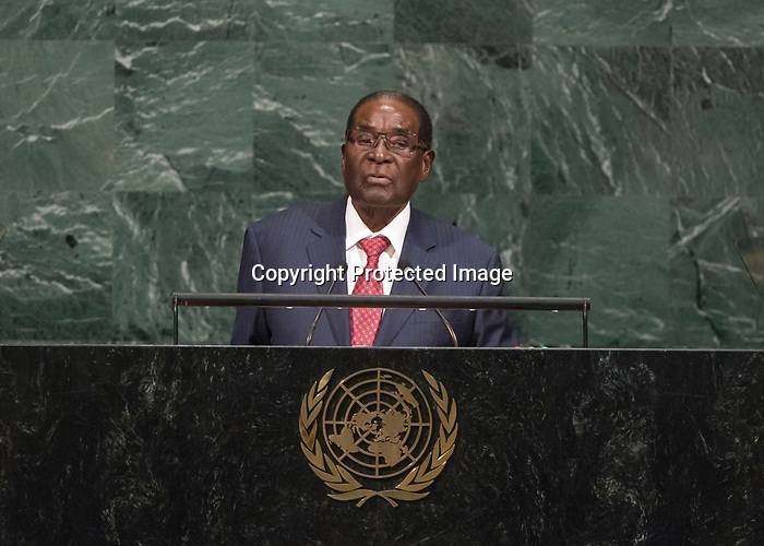 72 General Debate – 20 September <br /> <br /> His Excellency Robert Gabriel Mugabe, President of the Republic of Zimbabwe