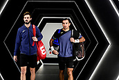 5th November 2017, Paris, France. Rolex Masters mens tennis doubles tournament final;  Ivan Dodig (Cro) and Marcel Granollers (Esp)