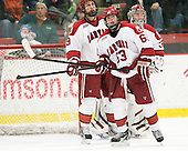 Danny Biega (Harvard - 9), Colin Blackwell (Harvard - 63), Raphael Girard,Harvard University, Crimson, - The Harvard University Crimson defeated the visiting Clarkson University Golden Knights 3-2 on Harvard's senior night on Saturday, February 25, 2012, at Bright Hockey Center in Cambridge, Massachusetts.