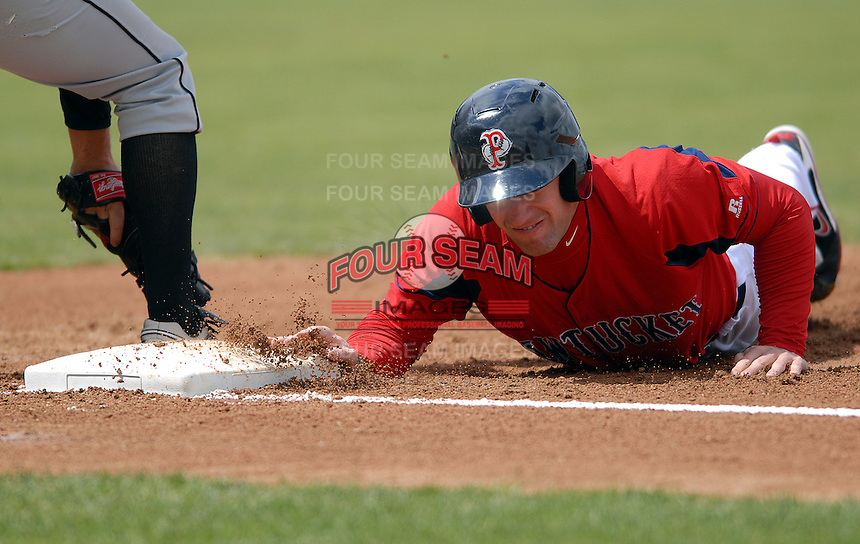 Outfielder Ryan Kalish #2 of the Pawtucket Red Sox during a game versus the Syracuse Chiefs on April 21, 2011 at McCoy Stadium in Pawtucket, Rhode Island. Photo by Ken Babbitt /Four Seam Images