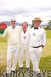 'The Three Criketeers', competing in the Valentia v Wicklow Cricket Match on Valentia on Saturday were l-r; Alan 'Scully' O'Sullivan, Alan Egan & Brian Morgan.