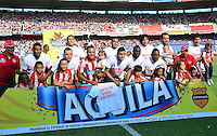 BARRANQUIILLA -COLOMBIA-08-03-2015. Jugadores del Atlético Junior posan para una foto previo al partido con Uniautonoma por la fecha 8 de la Liga Águila I 2015 jugado en el estadio Metropolitano Roberto Meléndez de la ciudad de Barranquilla./ Players of Atletico Junior pose to a photo prior the match against Uniautonoma for the 8th  date of the Aguila League I 2015 played at Metropolitano Roberto Melendez stadium in Barranquilla city.  Photo: VizzorImage/Alfonso Cervantes/STR
