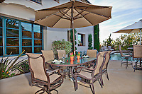 Stock photo of patio and outdoor living area