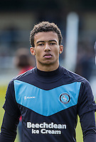 Jerell Sellars (Loanee from Aston Villa) of Wycombe Wanderers during the Sky Bet League 2 match between Wycombe Wanderers and Mansfield Town at Adams Park, High Wycombe, England on 25 March 2016. Photo by Andy Rowland.