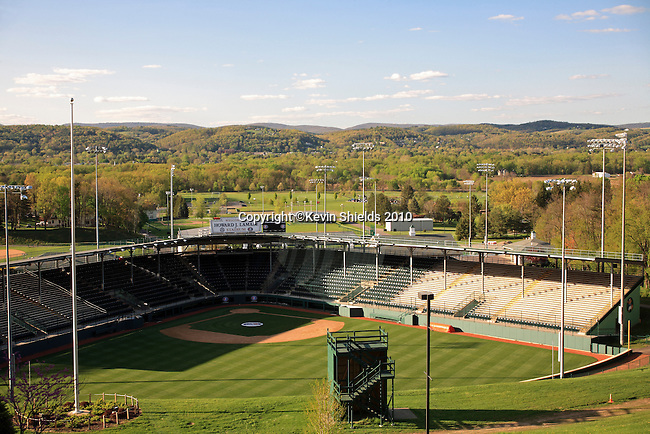 View of the Little League Baseball fields in South Williamsport, Pennsylvania, USA