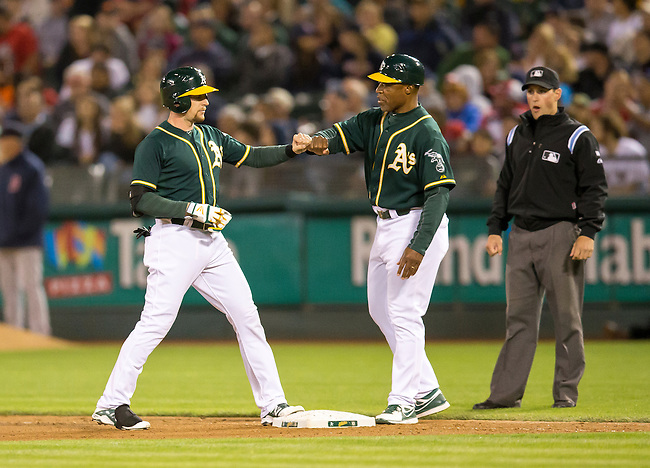 Jed Lowrie and Tye Waller<br />