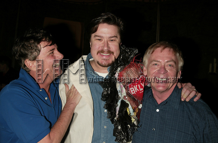 Gary Beach and Daniel Davis with Gypsy Robe Winner Mervin Foard.Attending the Opening Night Gypsy Robe Ceremony for LA CAGE aux FOLLES at the Marquis Theatre in New York City..December 9, 2004.© Walter McBride / Retna Ltd.