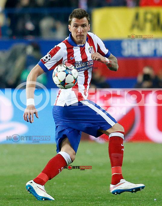 Atletico de Madrid's Mario Mandzukic during Champions League 2014/2015 match.March 16,2015. (ALTERPHOTOS/Acero) /NORTEphoto.com