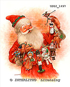 GIORDANO, CHRISTMAS SANTA, SNOWMAN, WEIHNACHTSMÄNNER, SCHNEEMÄNNER, PAPÁ NOEL, MUÑECOS DE NIEVE, nostalgic, paintings+++++,USGI1497,#X# nostalgic,vintage