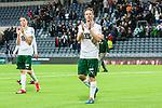 Stockholm 2015-05-30 Fotboll Allsvenskan Hammarby IF - Halmstads BK :  <br /> Hammarbys Jan Gunnar Solli tackar publiken efter matchen mellan Hammarby IF och Halmstads BK <br /> (Foto: Kenta J&ouml;nsson) Nyckelord:  Fotboll Allsvenskan Tele2 Arena Hammarby HIF Bajen Halmstad Halmstads BK HBK portr&auml;tt portrait