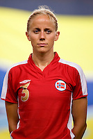 Gunhild Folstad. The US lost to Norway, 2-0, during first round play at the 2008 Beijing Olympics in Qinhuangdao, China.