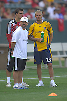 Los Angeles Galaxy's David Beckham first practice at the Home Depot Center in Carson, CA on Friday, July 16, 2007.