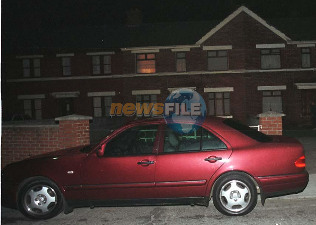PADDY FARRELLS MERC OUT SIDE THE BOYLE O'REILLY HOME OF LORRAINE FARRELL, WHERE HE WAS SHOOT DEAD..PIC:NEWSFILE