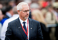 BALTIMORE, MD - MAY 20:  Todd Pletcher at Pimlico Race Course on May 20, 2017 in Baltimore, Maryland. (Photo by Alex Evers/Eclipse Sportswire/Getty Images)