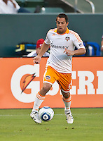 CARSON, CA – July 23, 2011: Houston Dynamo midfielder Danny Cruz (5) during the match between Chivas USA and Houston Dynamo at the Home Depot Center in Carson, California. Final score Chivas USA 3, Houston Dynamo 0.