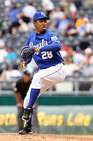 Royals RHP Octavio Dotel closes in the ninth against the Philadelphia Phillies at Kauffman Stadium in Kansas City, Missouri on June 10, 2007.  The Royals won 17-5.