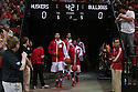 November 17, 2013: Shavon Shields (31) and Benny Parker (3) of the Nebraska Cornhuskers lead the team out on to the court before the game against the South Carolina State Bulldogs at the Pinnacle Bank Areana, Lincoln, NE. Nebraska defeated South Carolina State 83 to 57.